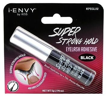 b14a319ae3d Amazon.com : Kiss I Envy Super Strong Hold Black Eyelash Adhesive 0.176  Ounce (5gm) : Fake Eyelashes And Adhesives : Beauty