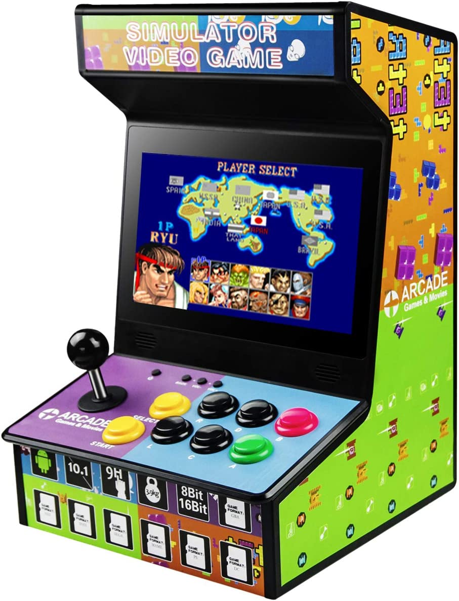 NBCP Arcade Games Machine Plug and Play Retro Game for Home Arcade Street Fighter Classic Gaming Arcade Cabinet Support NES,SNES,GBA,SEGA,PS,DC,MAME,68 Games in 1 add Extra Games
