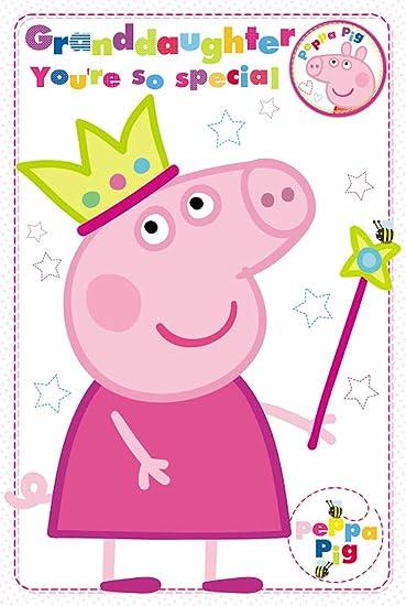 Amazon.com: Peppa Pig – Tarjeta de cumpleaños nieta Que eres ...