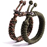 """The Friendly Swede Fish Tail Paracord Survival Bracelets with Metal Clasp, Adjustable Size Fits 7""""-8.5"""" (18-22 cm) Wrists (2"""