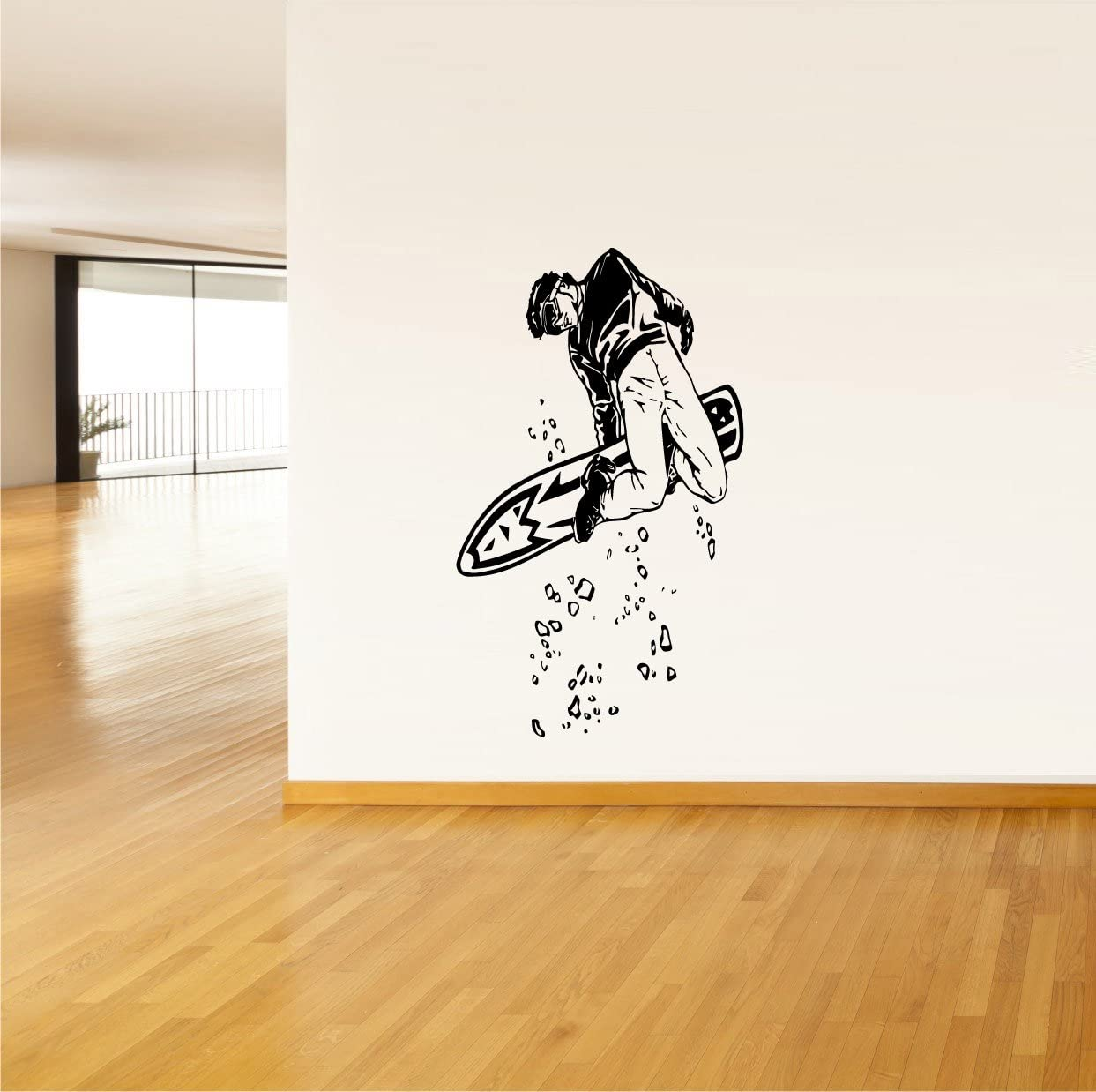 STICKERSFORLIFE Wall Art Vinyl Sticker Decal Mural Design Awesome Cold Winter Sport Snowbord Snowboarder 617