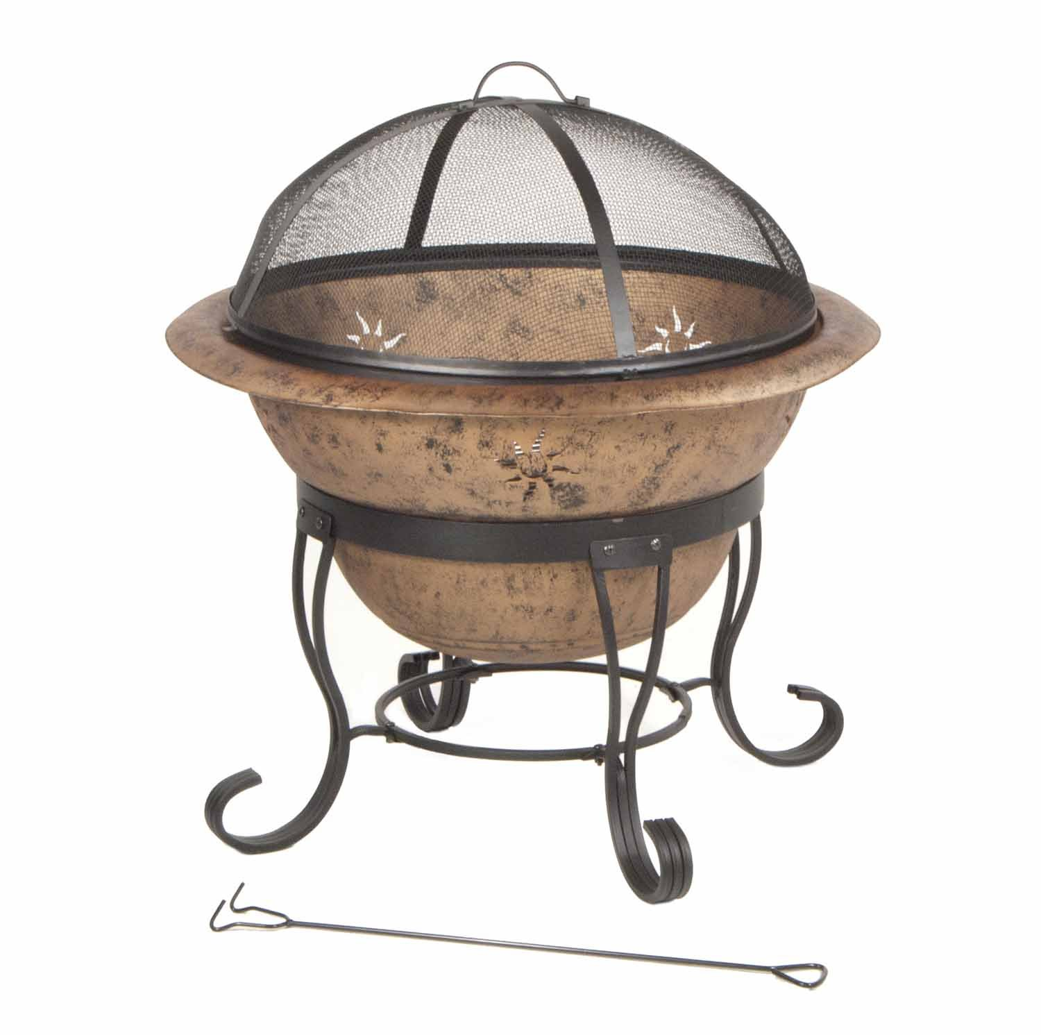 amazon com deckmate kay home product u0027s soleil steel fire bowl