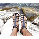 ed58ecf2018d Men gladiator handmade leather sandals Greek Roman style size 10.5 -  FASCINATION