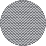 BooginHead - SplatMat Protective Floor Mat for High Chairs, Picnics, Art Projects, Toddler Play Time - GoGo Chevron, Dark Gray and Light Gray