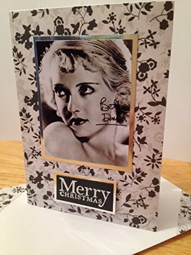 Betty davis christmas greetings card famous american actress vintage betty davis christmas greetings card famous american actress vintage themed happy xmas thanks glamour lover friendship m4hsunfo