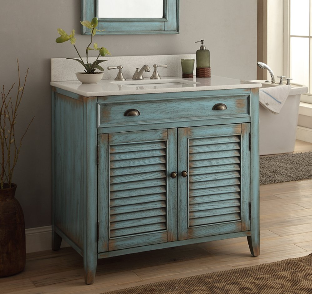 Benton Collection Cottage Look Abbeville Bathroom Sink Vanity - Cheap bathroom vanity units