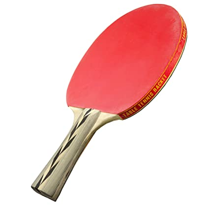 Sportly Spintermediate Table Tennis Racket, Red and Black - Single