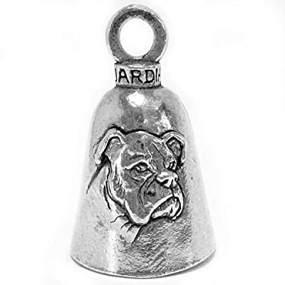 Guardian Boxer Breed Dog Motorcycle Biker Luck Gremlin Riding Bell or Key Ring: Automotive