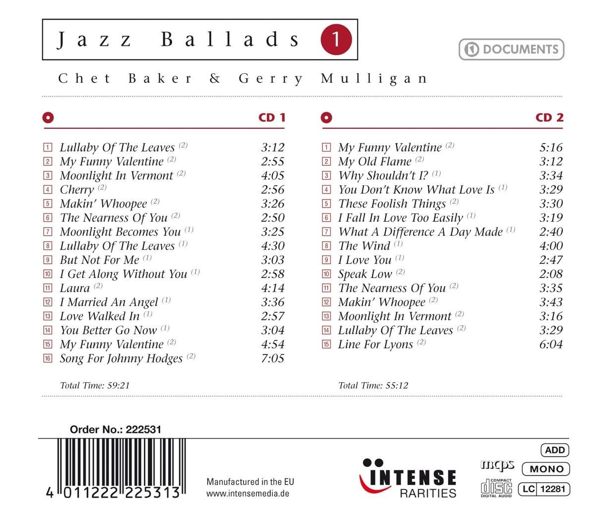 Chet baker gerry mulligan jazz ballads amazon music pronofoot35fo Images