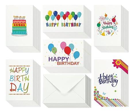 Amazon 48 Happy Birthday Cards Bulk Assortment