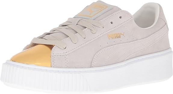 Suede Platform Gold Fashion Sneaker
