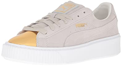 b4234b92d77b Puma Women s Suede Platform Gold Fashion Sneaker  Amazon.co.uk ...