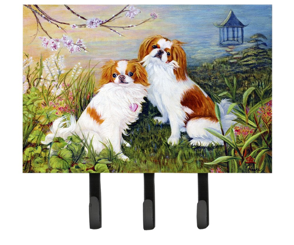 Multicolor Carolines Treasures MH1061TH68 Japanese Chin Wasabi and Ginger Leash or Key Holder Large