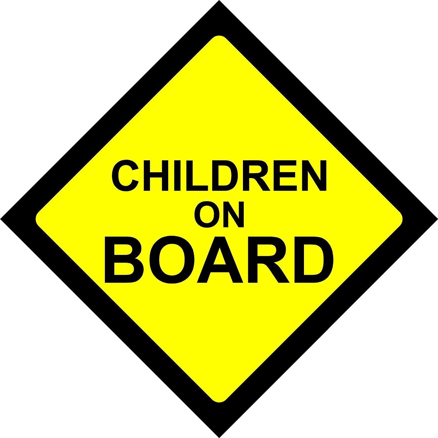 KIDS ON BOARD WARNING SAFETY SIGN Sticker Vinyl Decal for car vehicle window