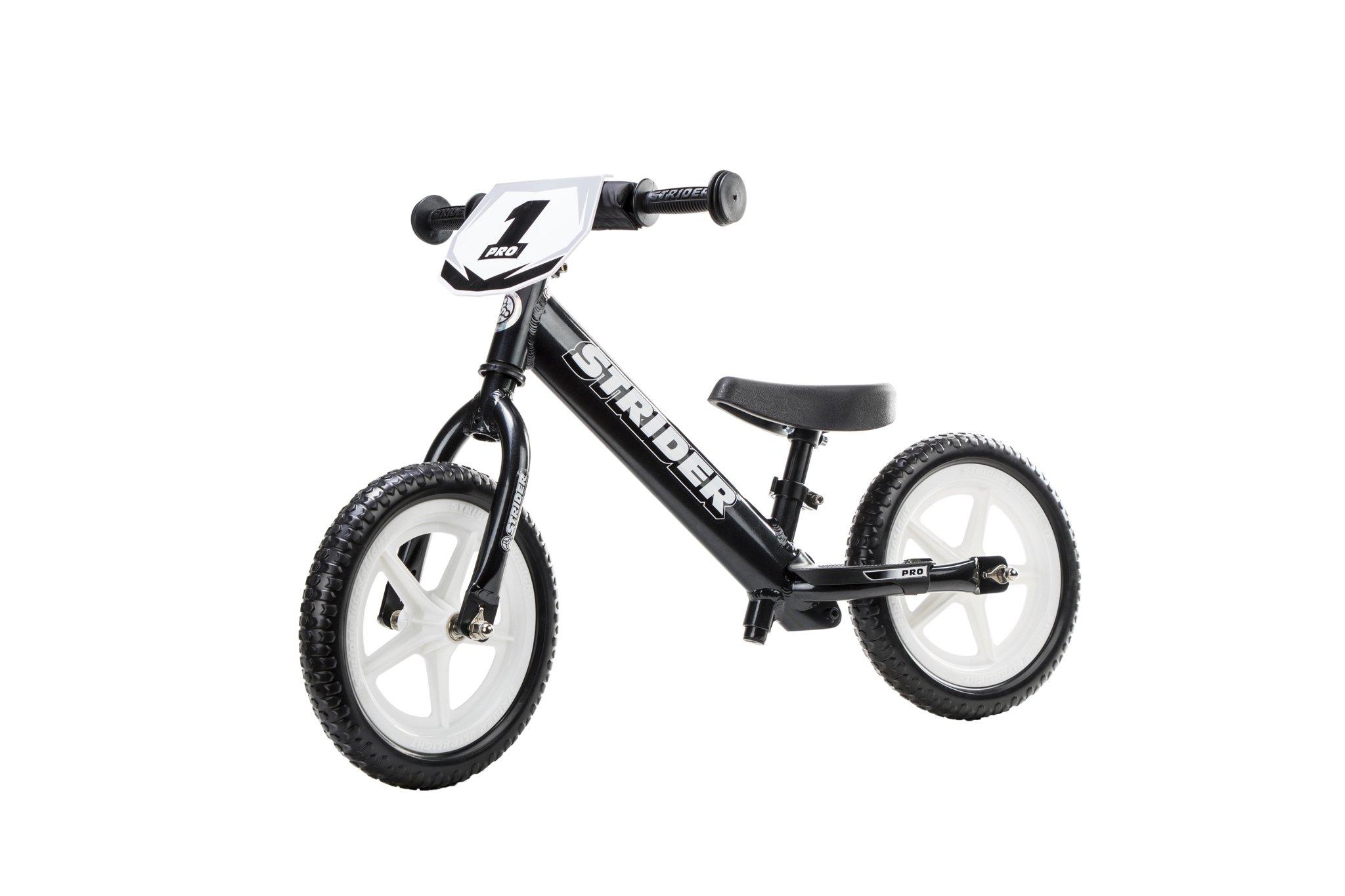 Strider - 12 Pro Balance Bike, Limited Edition Black Pearl