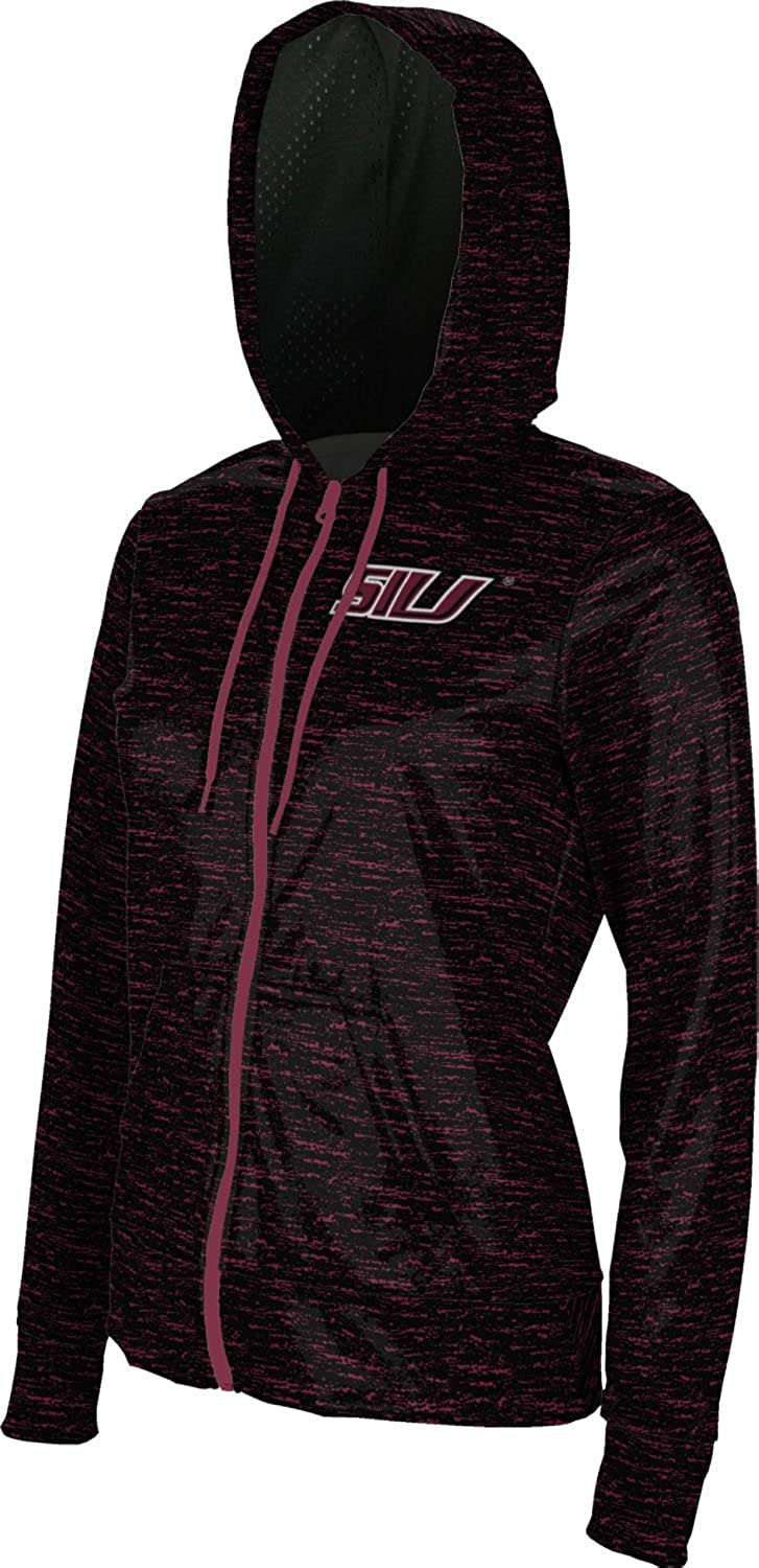 School Spirit Sweatshirt Brushed Southern Illinois University Girls Zipper Hoodie