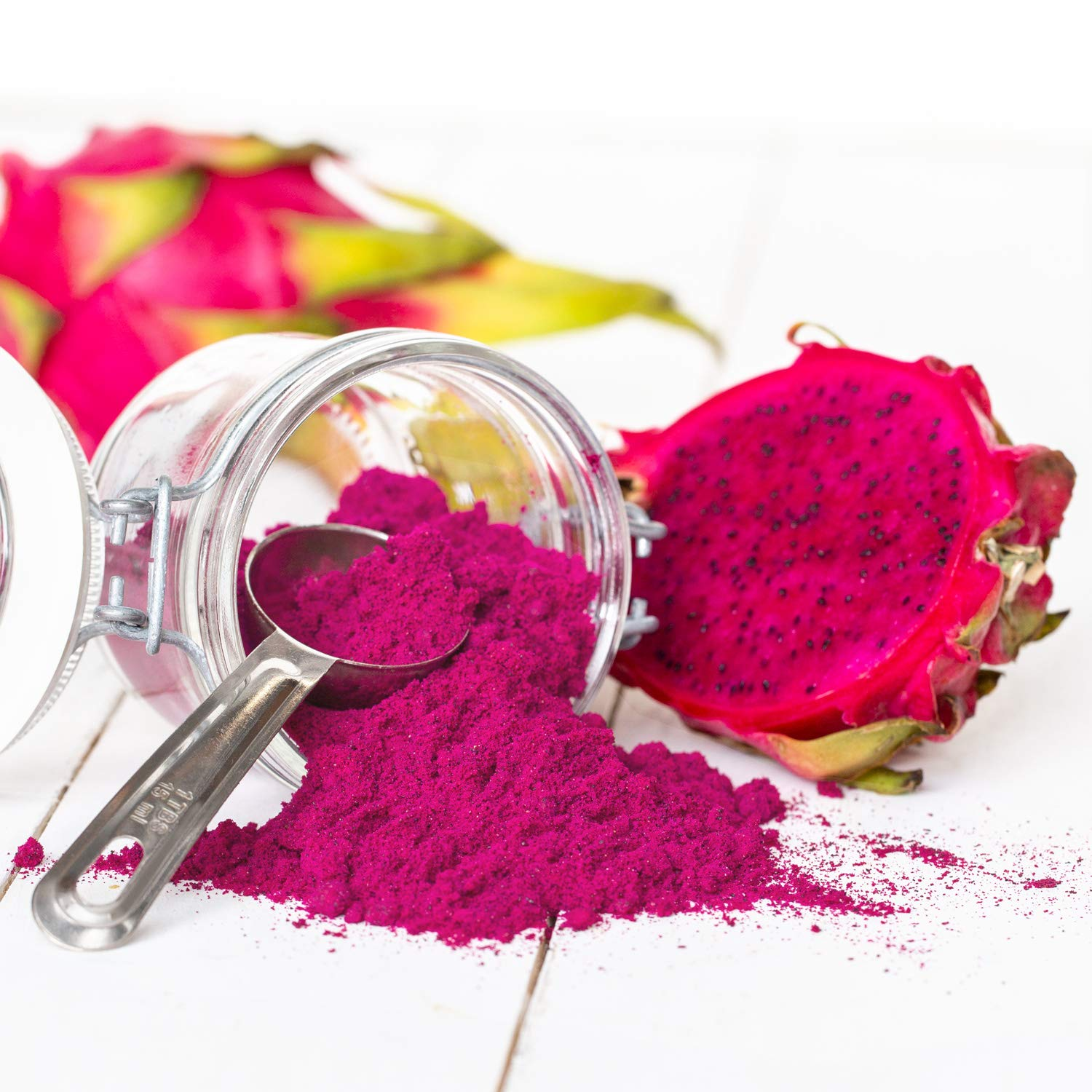 Pitaya Plus Freeze Dried Red Dragon Fruit Powder Organic. 4 Ounces of 100% Dragon Fruit for the Brightest Pink Rceipes. USDA and Oregon Tilth Organic, Non-GMO, Earth Kosher, Vegan Verified, B-Corp. by Pitaya Plus (Image #6)