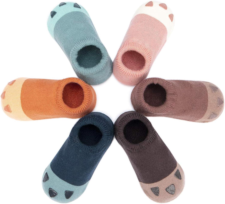 Adorel Calcetines Zapato Antideslizantes para Bebé Lote de 6