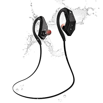 Auriculares Impermeables Bluetooth Olycism Earphone Estéreos 4.1 con Mic Incorporado IPX8 Waterproof Essentials de Running/