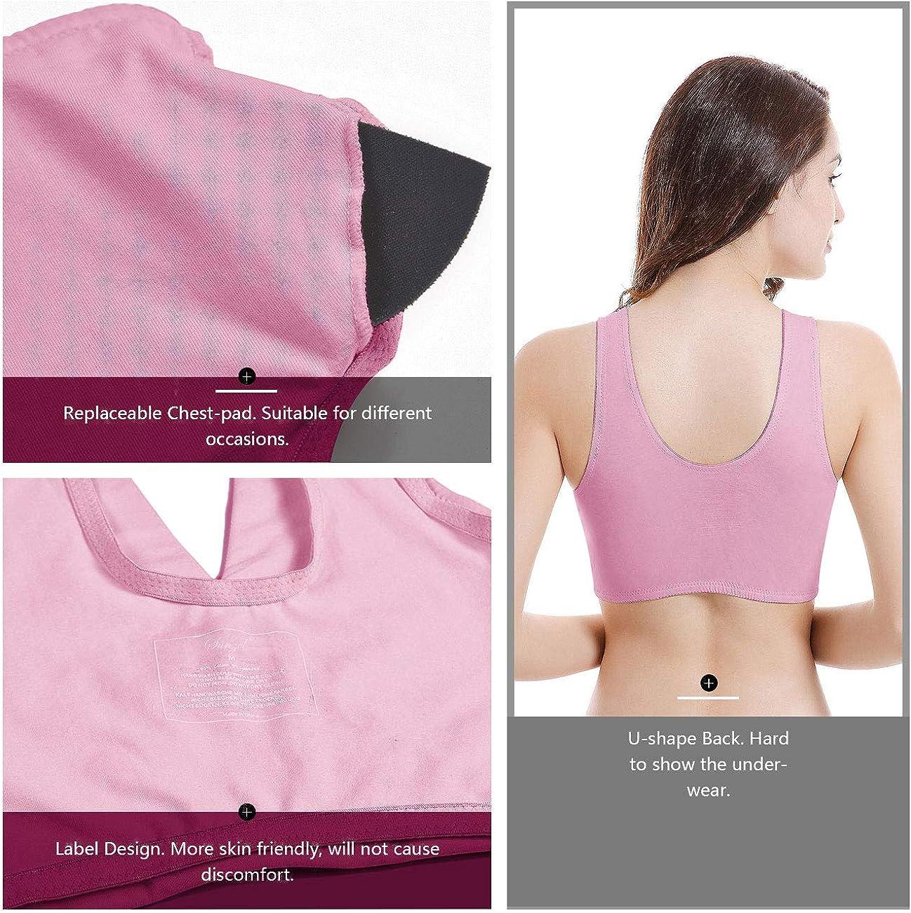 Sunzel Womens Cotton Spandex Seamless Sleep Bra for Nursing and Maternity 2019 Upgraded Version