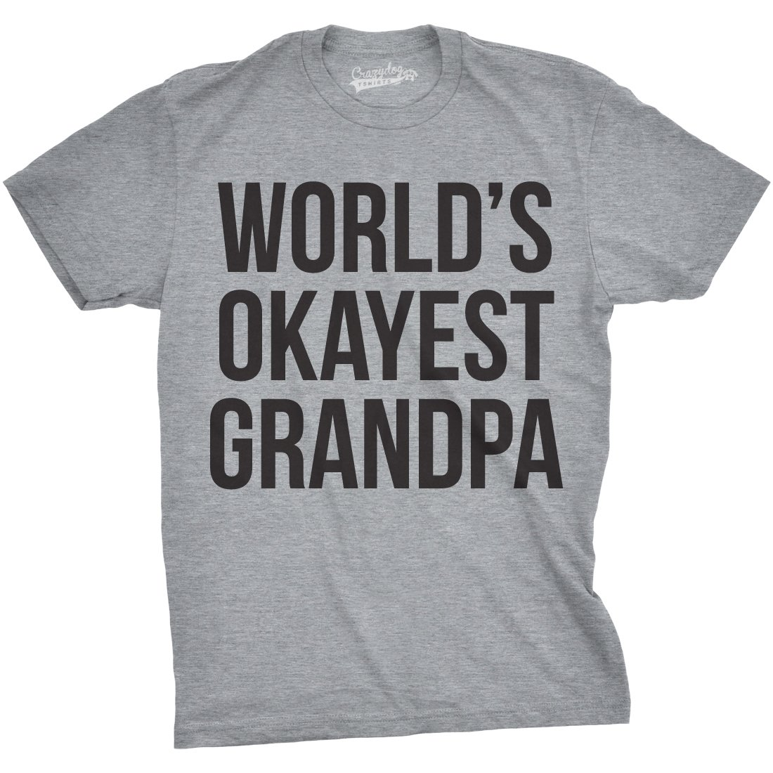 Mens Worlds Okayest Grandpa T Shirt Cool Grandparent Family Relationship Tee