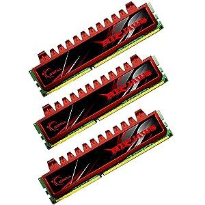 G.SKILL 12GB (3 x 4 GB) Ripjaw Series DDR3 PC3-12800 1600MHz (9-9-9-24) Triple Channel Kit Desktop Memory Model F3-12800CL9T-12GBRL