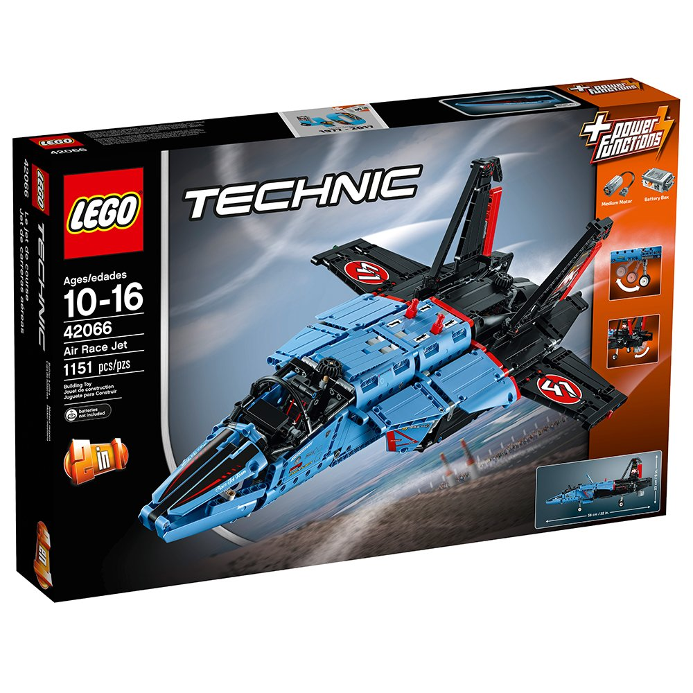 $139.99 (was $189.99) LEGO Technic 42066 Air Race Jet Building Kit, 1151 Piece