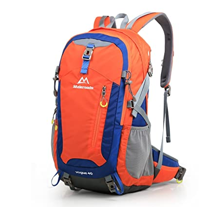 8c4326867b16 maleroads Backpack, Hiking Pack 40L Water-Resistant Mountain ...