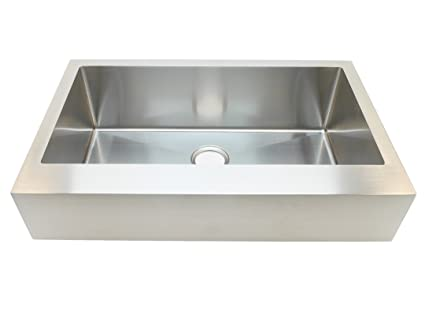 Auric Sinks 33u0026quot; Farmhouse Apron Single Bowl Sink, 16 Gauge Stainless  Steel (33u0026quot