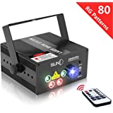 X'mas Decoration Laser Lights, 80 Patterns RG Stage Laser Dj Lighting, Mini Portable Professional Sound Activated Laser Projector Show for Disco Party Clubs Bars Wedding Festival Carnival Celebration