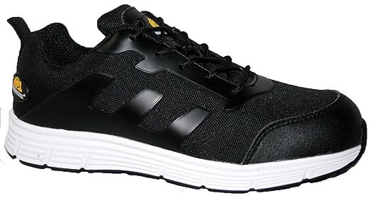 Dames De Base De Travail Sécurité Orteil Acier Chaussures Dentelle Entraîneur De Lumière Ultra, Couleur Blanc, Taille 39.5