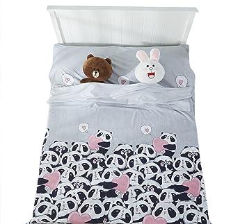 Ice Grey Flores Impreso cabaña Saco de dormir con cojín compartimento Saco de dormir Inlay Viaje