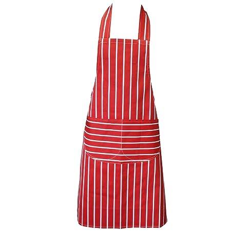 chefs apron red kitchen apron double pockets machine washable suitable for - Kitchen Apron