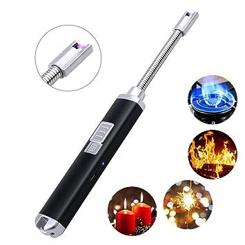 Encendedor, GDREAMT Encendedor Eléctrico Arco USB Encendedor Cuello Fexible Resistente al viento Mechero para Encender Velas BBQ Camping Estufa: Amazon.es: ...