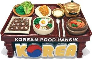 KOREAN Fridge Magnet 3D Souvinir SEOUL BUSAN JEJU Handmade Craft Gift Refrigerator Resin Magnets Rubber Epoxy Magnetic for Decoration