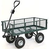 Gotobuy Wagon Cart 800 LB Capacity Utility Heavy Duty Yard Garden Home