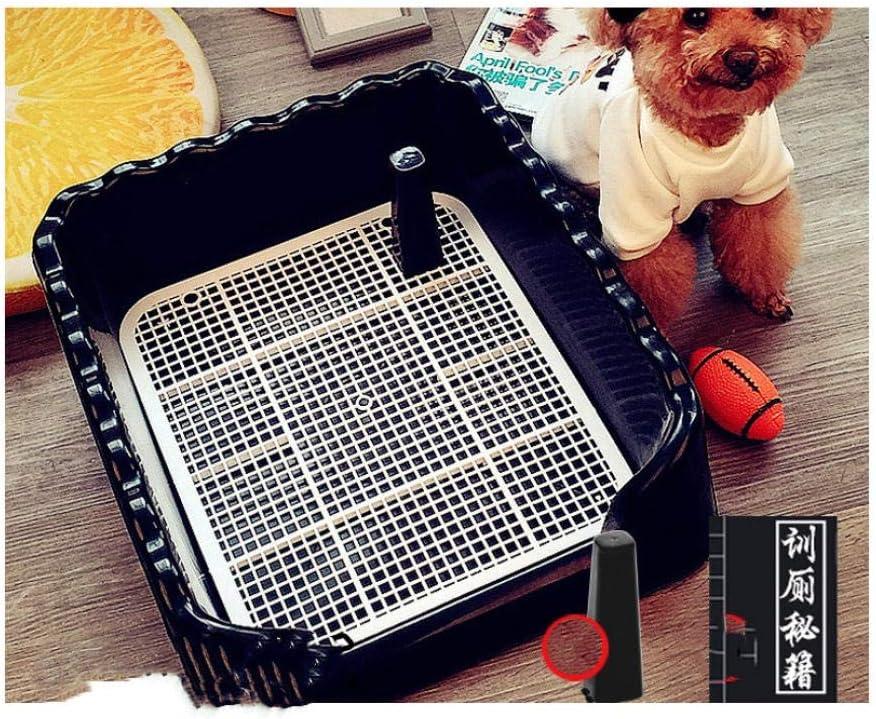 Ding&ng Descarga Interior, orinar, Perro, Inodoro, Inodoro, Inodoro, Inodoro para Mascotas-Negro_50 * 40 * 15 cm