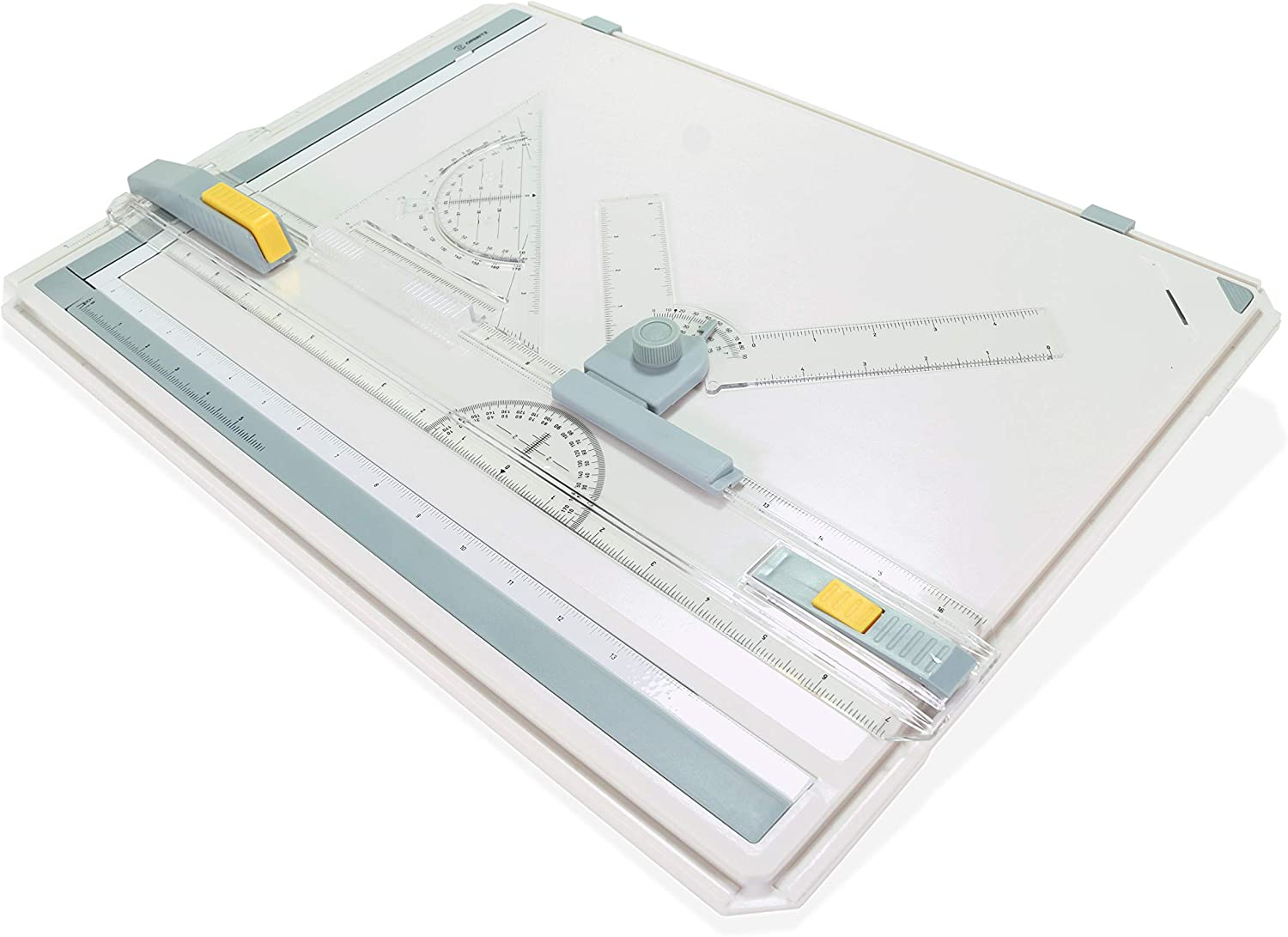 Precision Drafting Kit with Parallel Motion Ruler Set Perfect Tabletop or Lap Sketching Tool Ormitz A3 Portable Drawing Board in Imperial Units