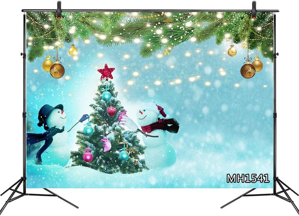 LB 210x150cm Vinilo Navidad Fondo Muñeco de Nieve,Árbol de Navidad,Guirnalda Verde,Invierno Fondo de Fotografia para Estudio Fotográfico, Vacaciones Tema Partido Decoración,Personalizado: Amazon.es: Hogar