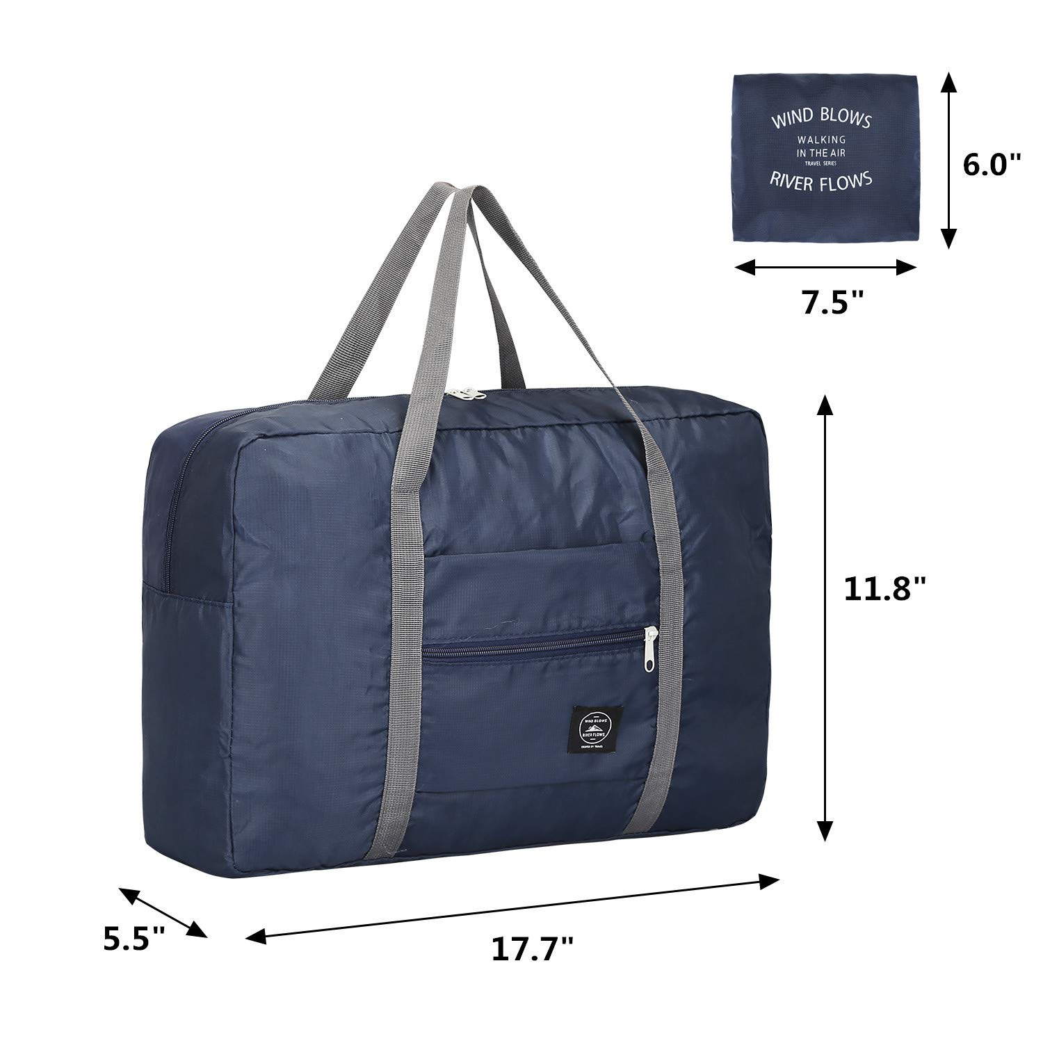 Amazon.com  G4Free Foldable Travel Duffel Bag Lightweight Carry-on Luggage Tote  Bag for Airlines Trip (Navy Blue)  Sports   Outdoors ac9ebf3328