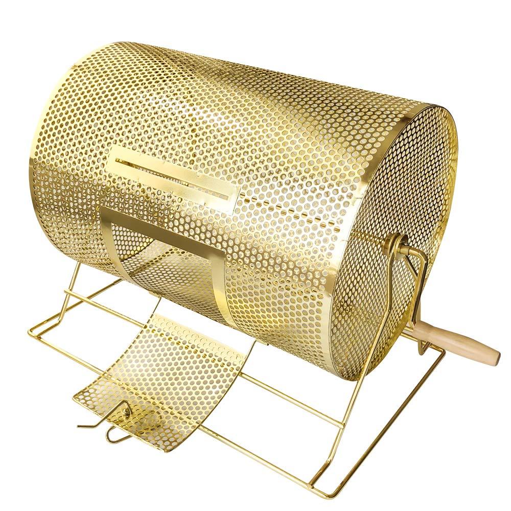 YH Poker ミディアムサイズ 真鍮メッキ ラッフル ドローイング チケット ドラム 回転 宝物 B07QK3VZVP