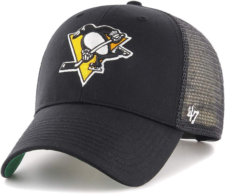 47Brand Branson Trucker MVP Snapback Cap Pittsburgh Penguins BRANS15CTP-BKB Schwarz
