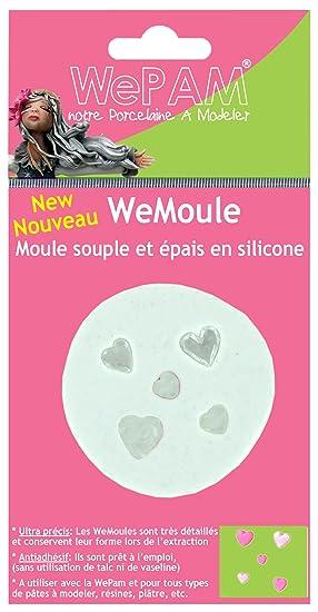 Cleopatre WeMoule - Molde de silicona para moldar varios corazones con porcelana fría: Amazon.es: Oficina y papelería