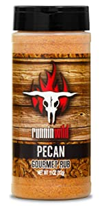 Pecan Gourmet Rub | Made in the USA using Natural Flavors and No Fillers | Premium Rub for Pork, Ribs, Chicken, Turkey and Salmon | Runnin' Wild Foods
