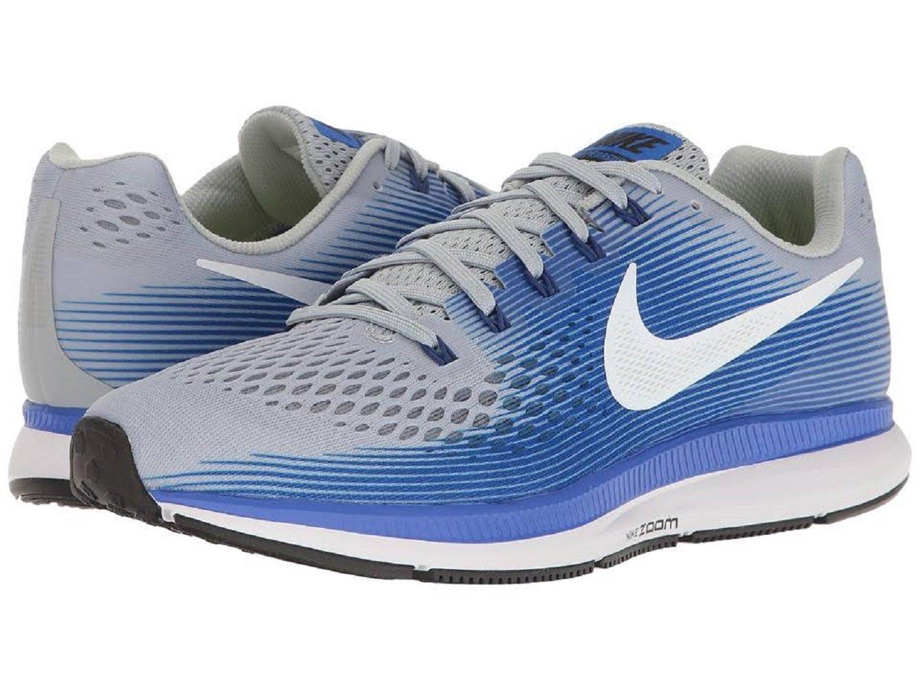 hot sale online e53a5 78f77 Galleon - NIKE Men s Air Zoom Pegasus 34 Running Shoes (8.5, Grey Blue-EW)
