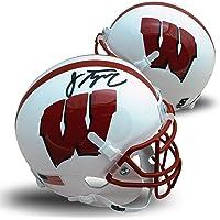 $129 » Jonathan Taylor Autographed Wisconsin Badgers Signed Football Authentic White Mini Helmet JSA COA