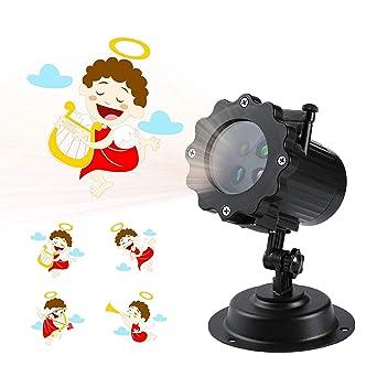 Proyector de luces LED animado para Navidad, con 12 diseños ...