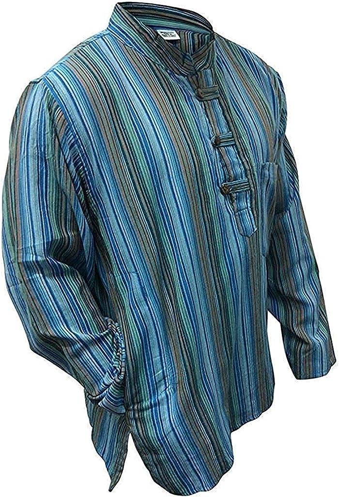 Multicolor mix de rayas dharke manga larga ligera con función atril cómoda camiseta de manga corta para abuelo tradicional, hippy de flores, a xxl xxxl con el logo de