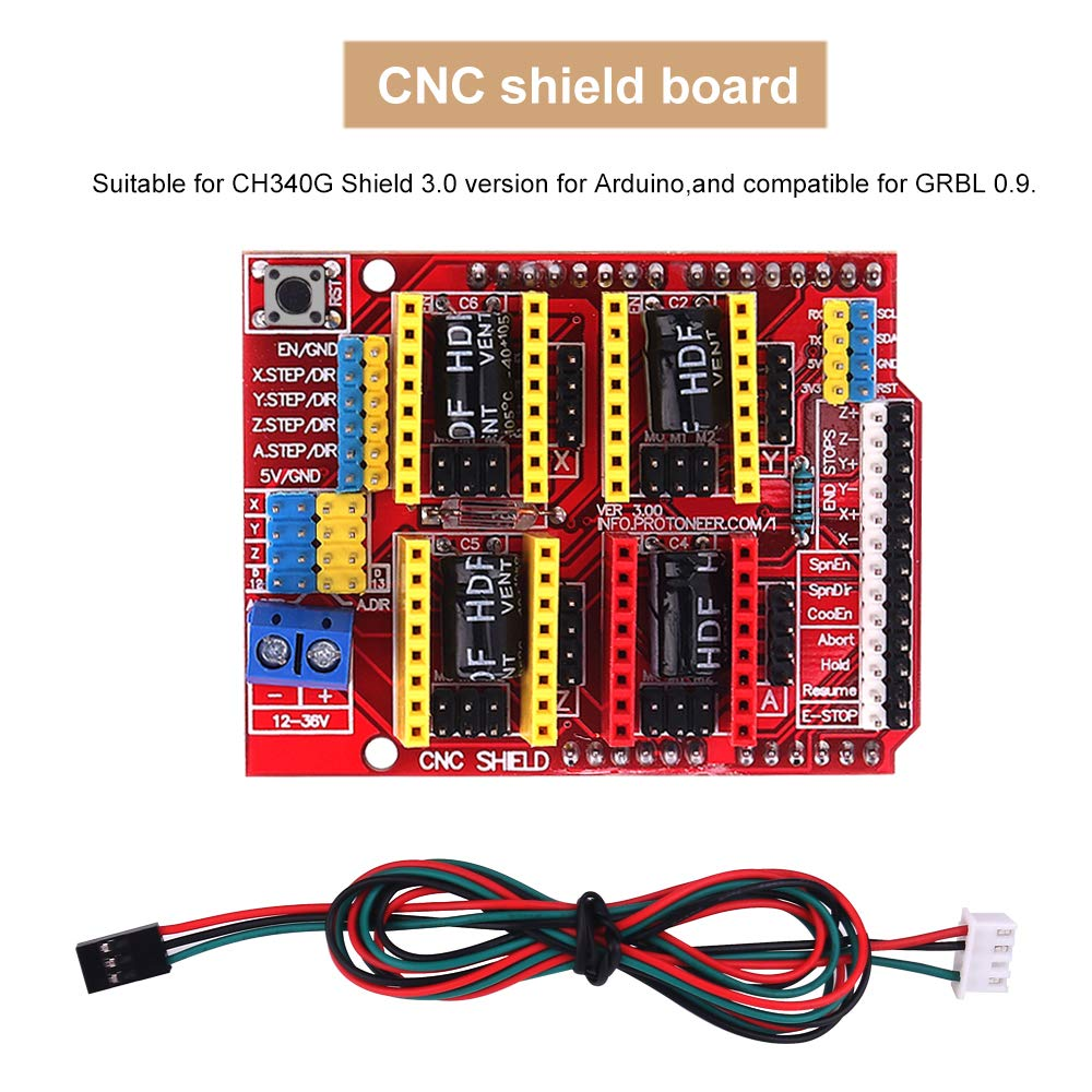 3D Printer CNC Controller Kit CNC 3D Printer Driver Kit MYSWEETY 39PCS 3D Printer CNC Module Kit Nema 17 Stepper Motor /& Stepper Motor Driver with Heat Sink