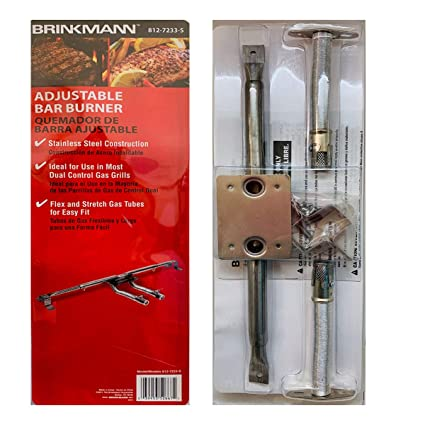 Amazon.com : Brinkmann Adjustable Bar Burner Stainless Steel ...
